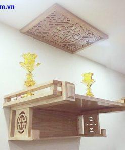 Kệ thờ treo tường bằng gỗ