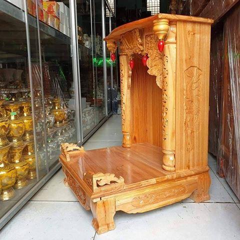 1 2 - Bàn thờ ông địa gỗ xoan đào cao cấp