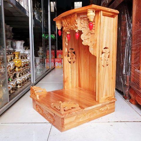 2 5 - Mẫu bàn thờ ông địa gỗ xoan đào