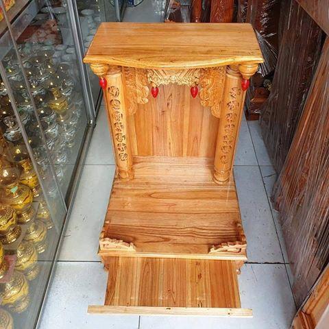 3 1 - Bàn thờ ông địa gỗ xoan đào cao cấp