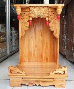bàn thờ ông địa gỗ xoan đào