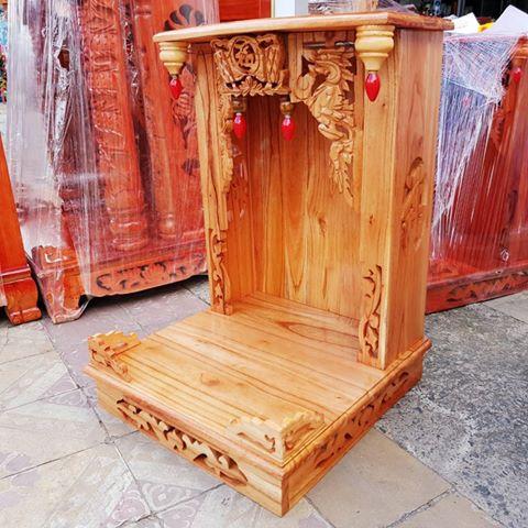 3 36 - Bàn thờ ông địa gỗ xoan HCM