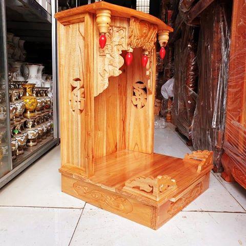 3 5 - Mẫu bàn thờ ông địa gỗ xoan đào
