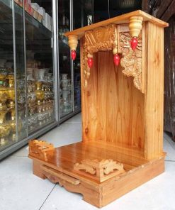 bàn thờ thàn tài gỗ xoan đào