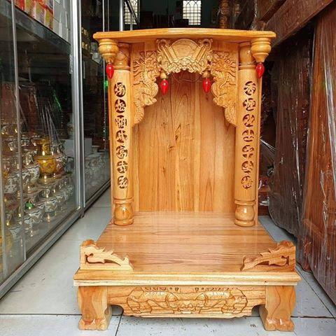 4 2 - Bàn thờ ông địa gỗ xoan đào cao cấp