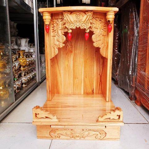 5 4 1 - Mẫu bàn thờ ông địa gỗ xoan đào