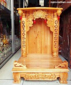 ban tho ong dia go xoan dao 247x296 - Bàn thờ ông địa gỗ xoan đào cao cấp